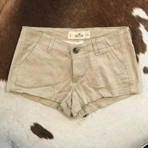 Tan Hollister cargo shorts